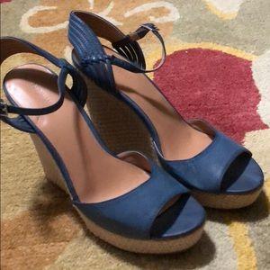 Nine West Blue strappy heels 9